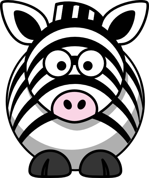 image royalty free download Clip art at clker. Zebra black and white clipart.