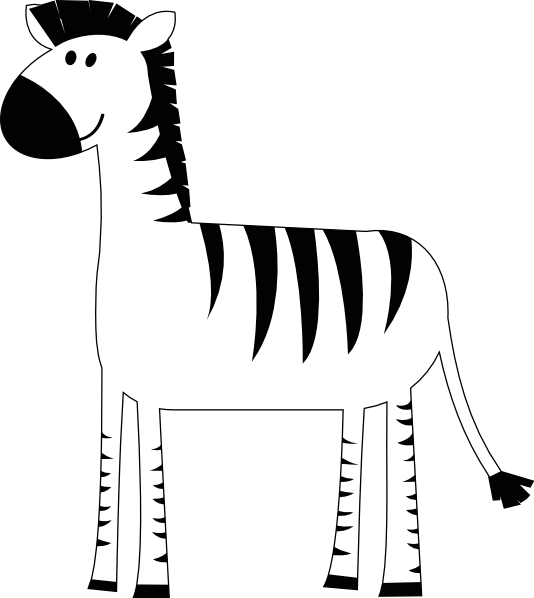 clipart library Images of outline spacehero. Zebra clipart black and white