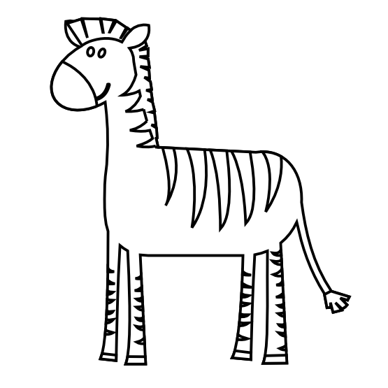 picture library Clipartist net clip art. Zebra clipart black and white