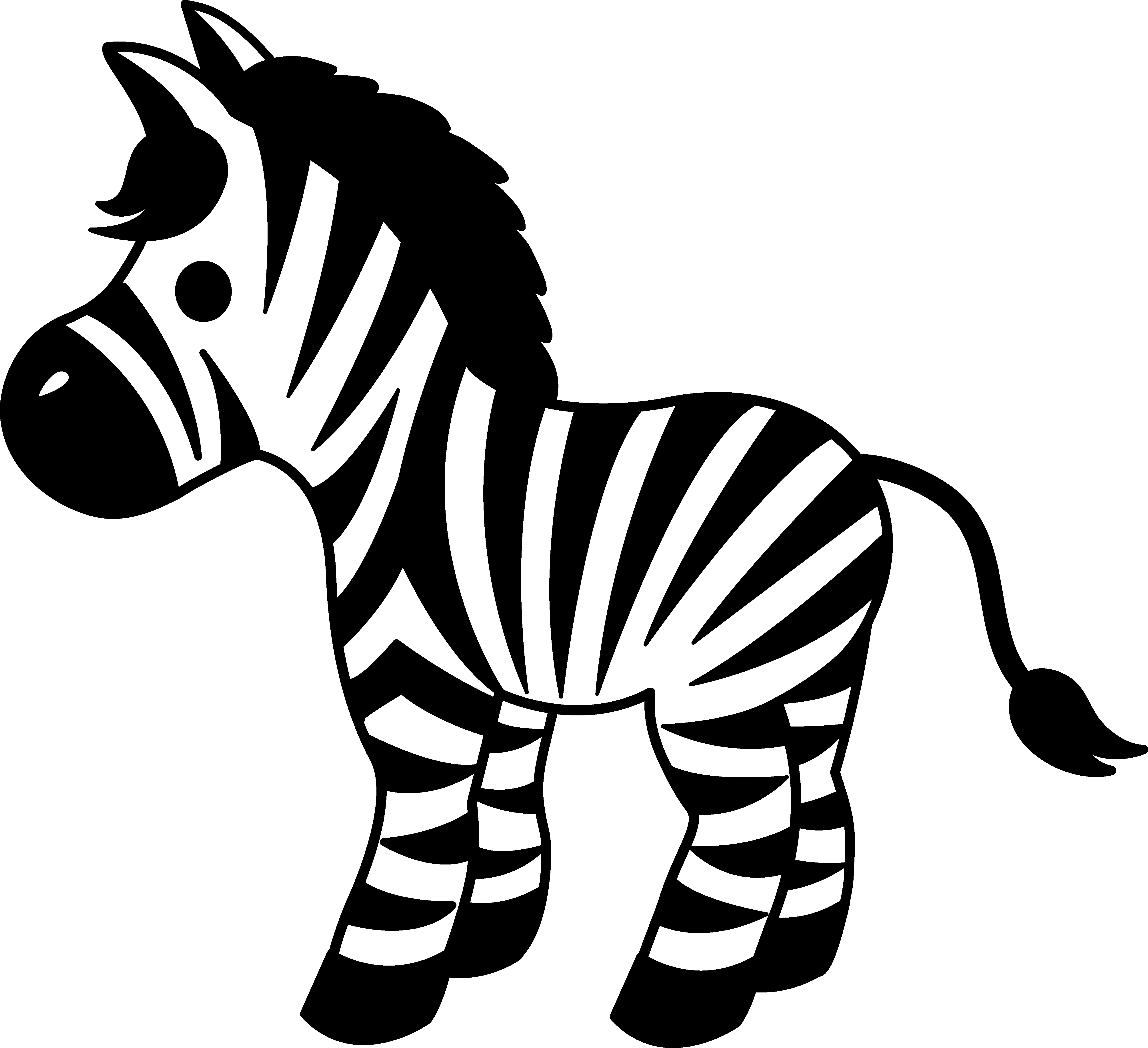 clip art transparent download Cute striped free clip. Zebra head clipart