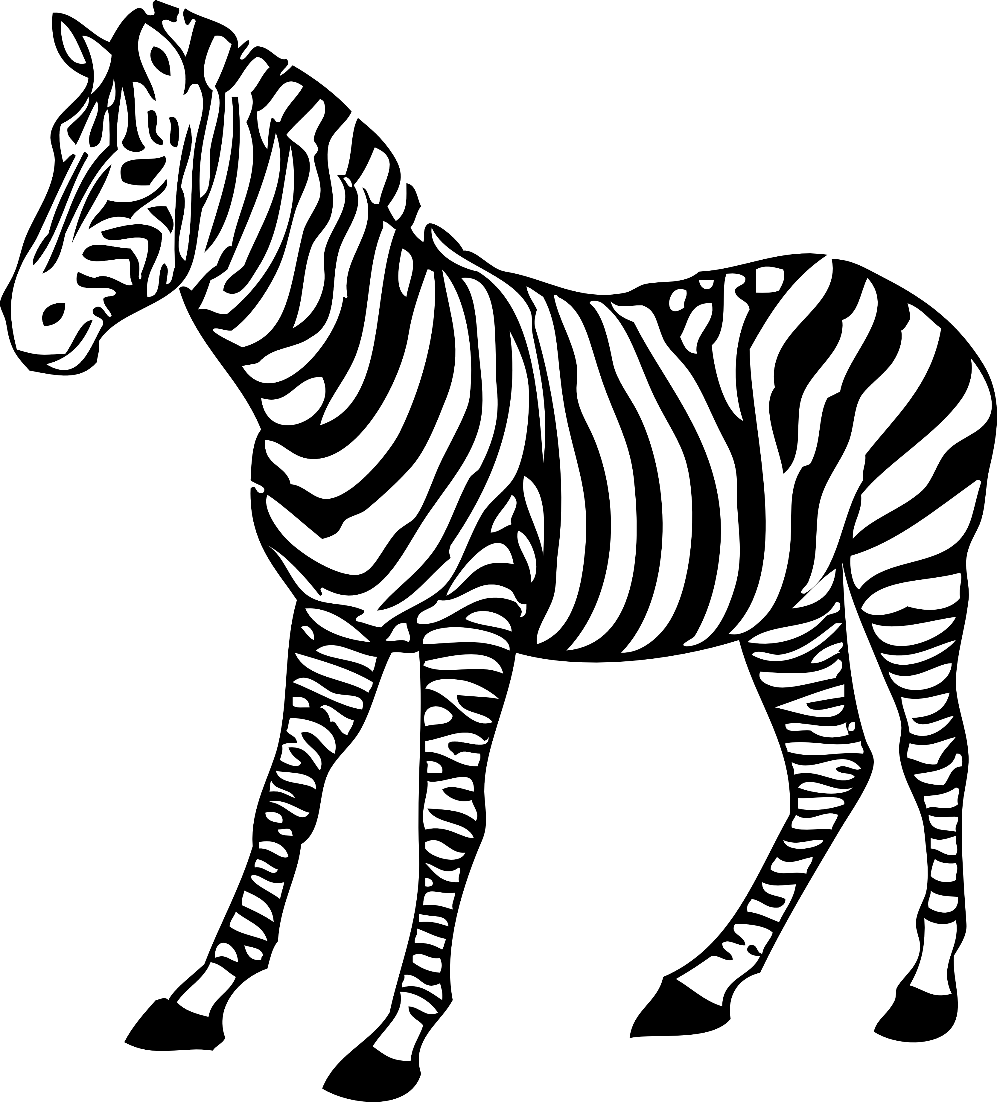 clipart royalty free library Animal clipart black and white. Zebra herd zebras free