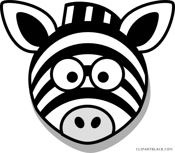 vector black and white download Zebra head clipart. Clipartblack com animal free