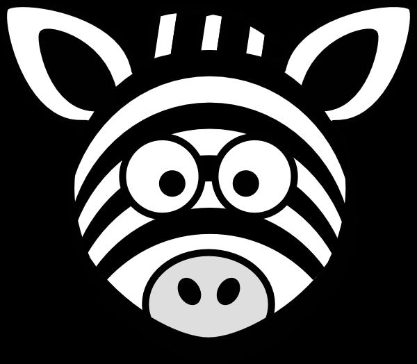 vector black and white download Zebra head clipart. Clipartblack com animal free.