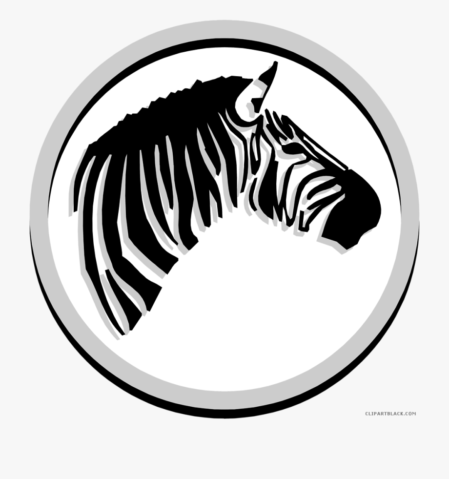 graphic library download Zebra head clipart. Black and white download.