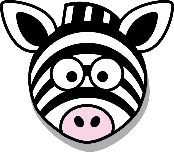 svg freeuse stock Zebra head clipart. Cute clip art library