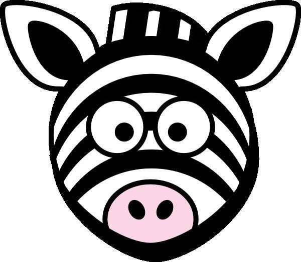 svg freeuse stock Zebra head clipart. Cute clip art library.