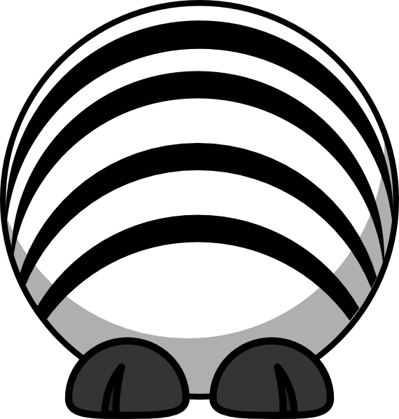 black and white library Body no clip art. Zebra head clipart