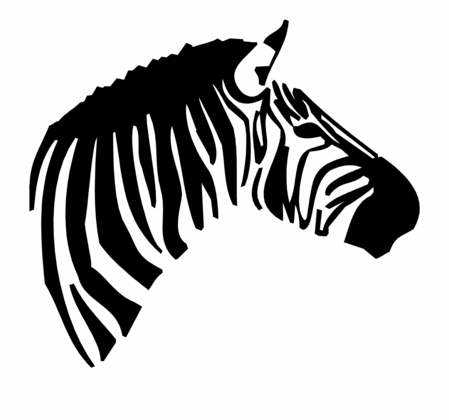 banner freeuse library Zebra head clipart. Transparent library free stock.