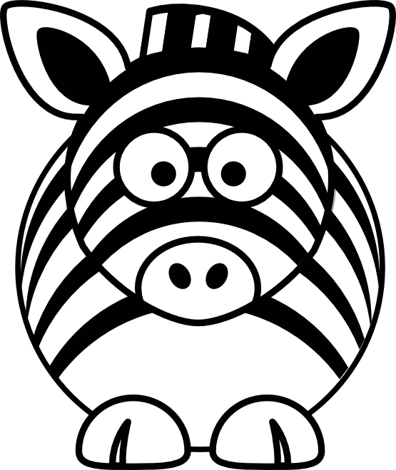 svg library stock Cartoon line panda free. Zebra head clipart black and white