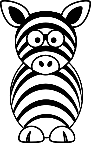 picture black and white stock Zebra head clipart black and white. Clip art at clker