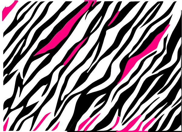 png freeuse stock Zebra print clipart. Black and white background.