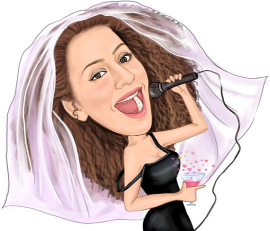 jpg royalty free stock Wedding Caricature Design