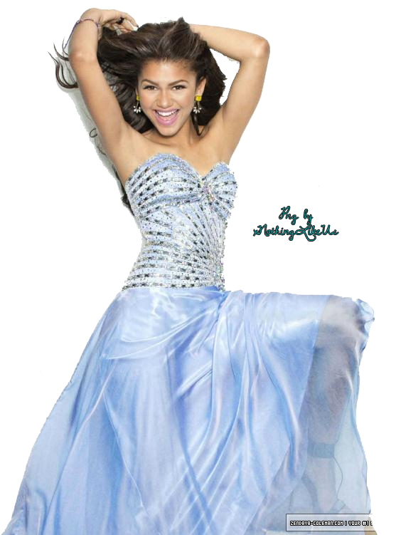 banner black and white stock Zendaya PNG