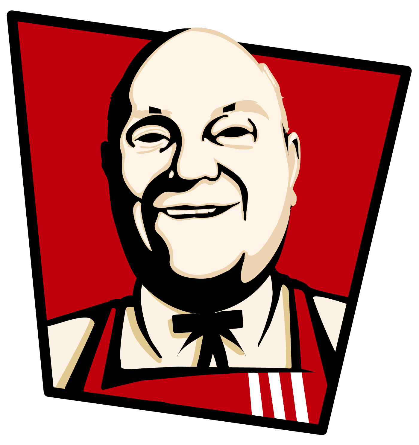 image free Draw you in kfc logo style caricature pop arts by Redwart