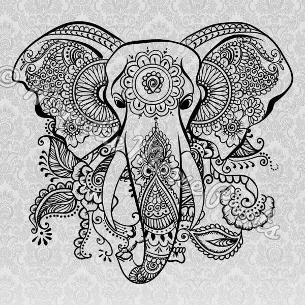 clipart royalty free stock Tribal Elephant SVG