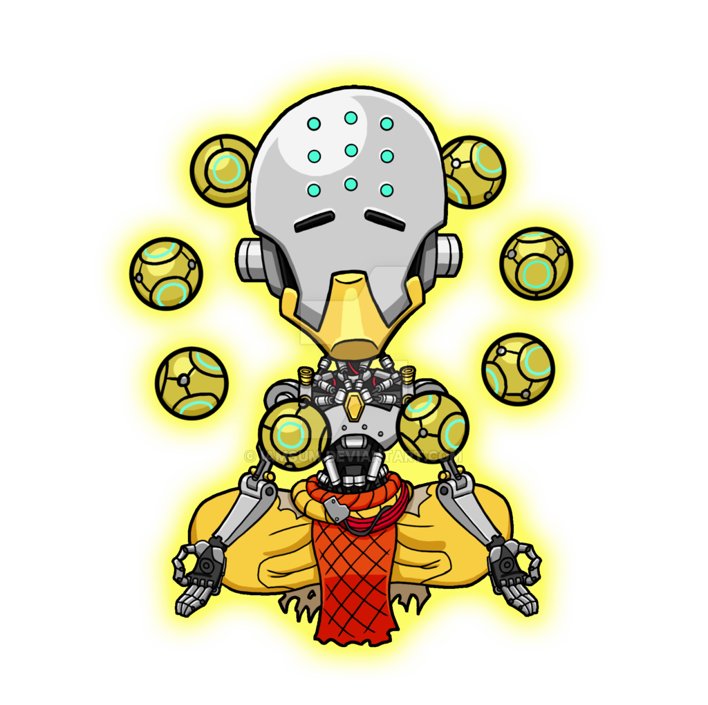 banner royalty free stock Zenyatta by iAmSUM on DeviantArt