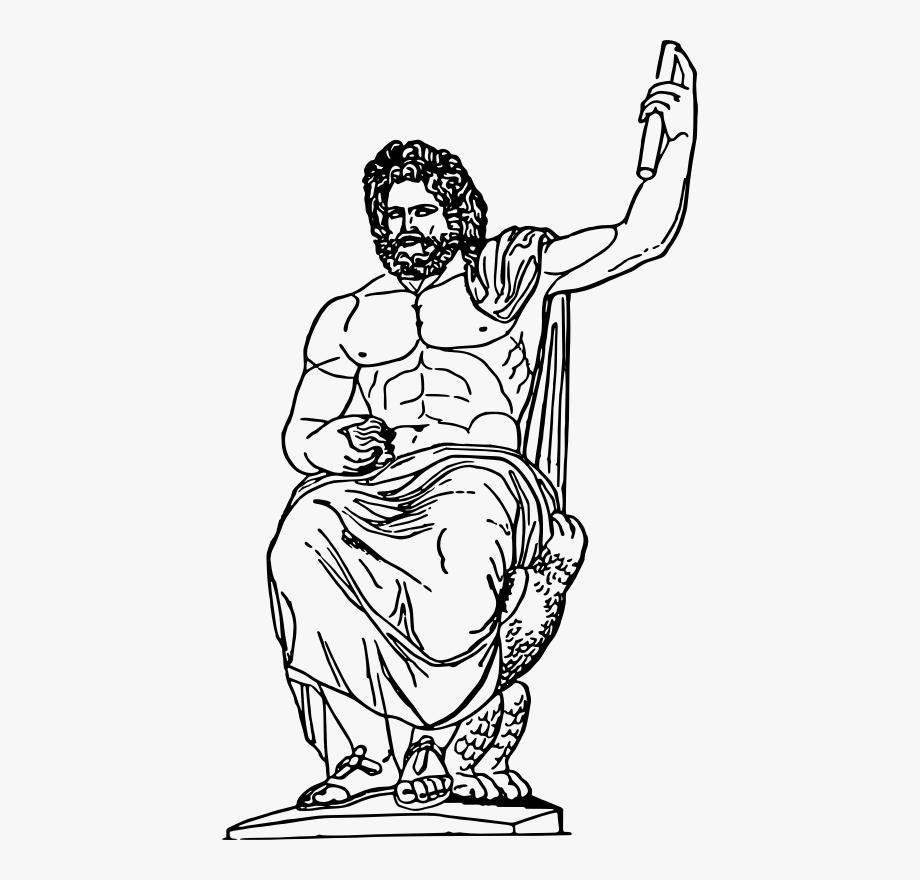 svg freeuse download God jupiter greek clip. Zeus clipart black and white.