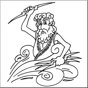 graphic black and white Zeus clipart black and white. Clip art cartoon b.