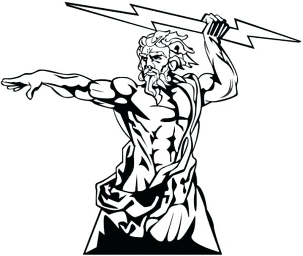 picture royalty free stock Collection of free download. Zeus clipart black and white.