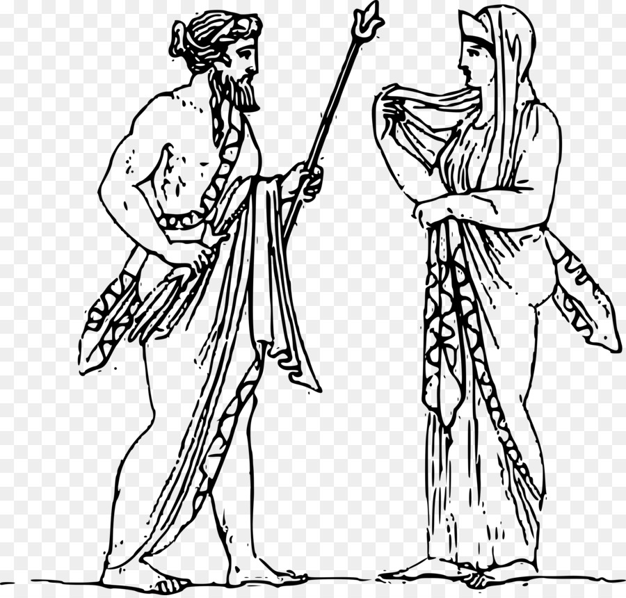 jpg transparent library Zeus clipart black and white. Person cartoon clothing woman.