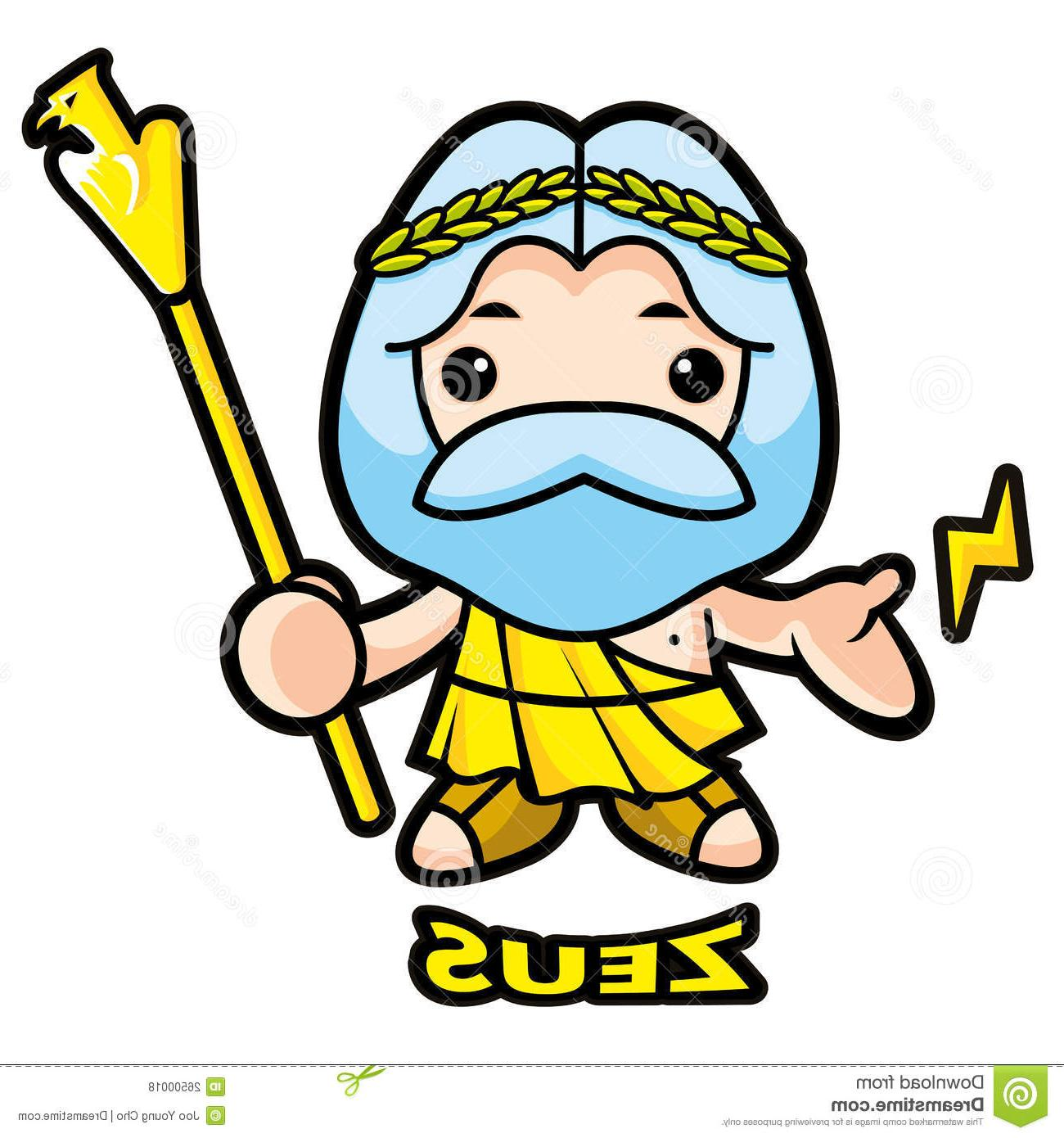 graphic free download Free download best on. Zeus clipart cartoon.
