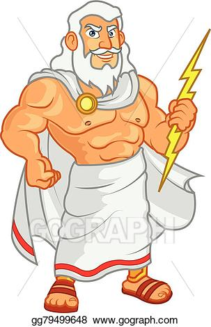 clipart transparent library Eps illustration vector gg. Zeus clipart cartoon