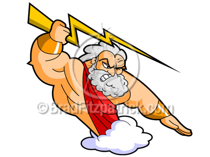 graphic library download Zeus clipart cartoon.  clipartlook