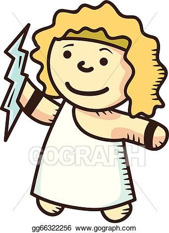 svg freeuse library Vector stock cartoon clip. Zeus clipart cute