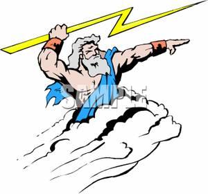 image free stock The greek of royalty. Zeus clipart god thunder.
