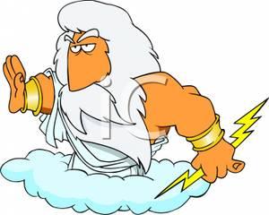 image freeuse The of lightning royalty. Zeus clipart god thunder.
