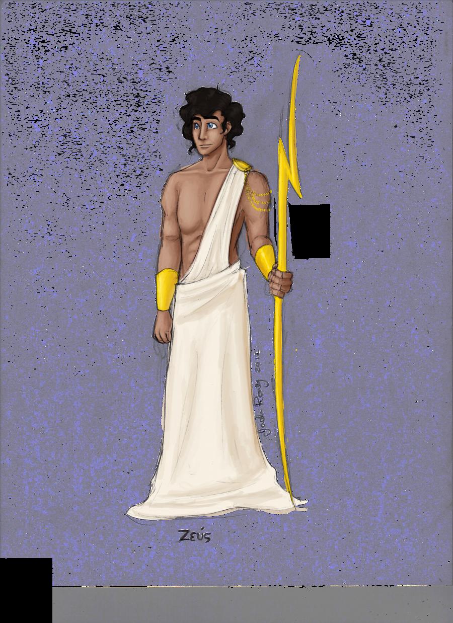 png Zeus clipart god thunder. Greek by jadeariel deviantart