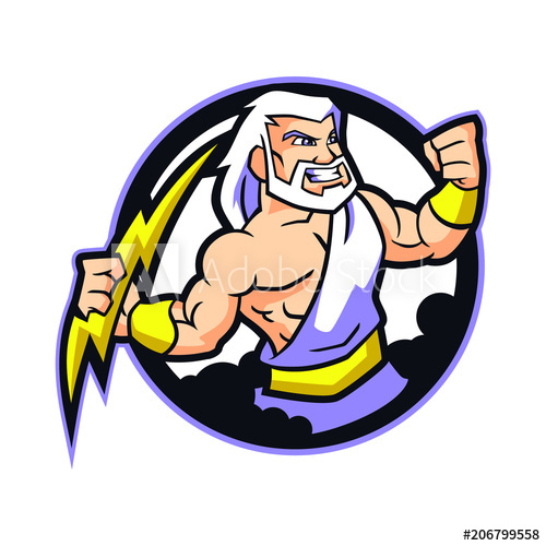clipart royalty free stock Design vector buy this. Zeus clipart mascot.