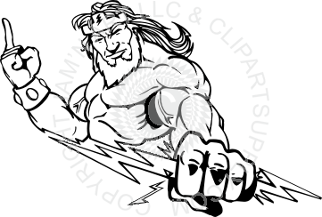 image freeuse Titan pencil and in. Zeus clipart mascot