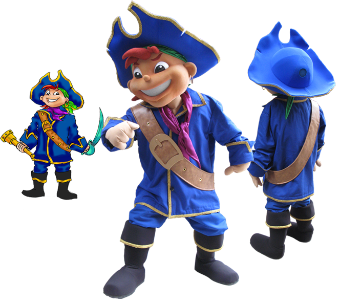 vector royalty free library Pirate captain kids maydwell. Zeus clipart mascot