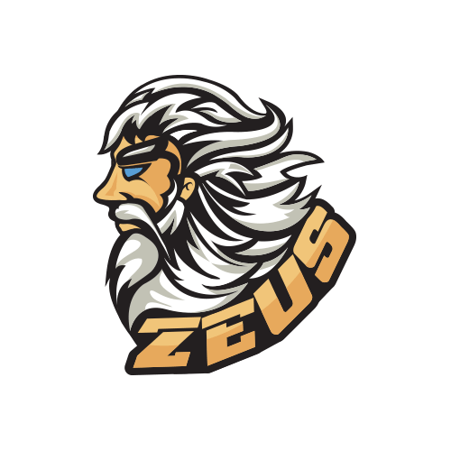 royalty free download Zeus clipart mascot. Logo design custom prodesigns