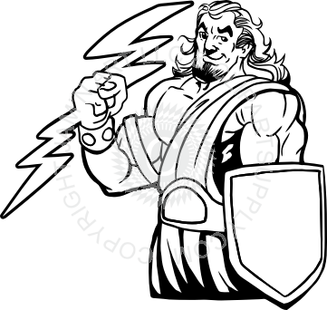 picture download Zeus clipart mascot. Titan with lightning and
