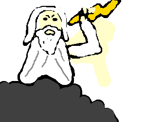 jpg black and white download Doing a dance god. Zeus clipart meets
