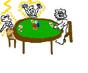 vector free Zeus clipart meets. Cheating in a poker