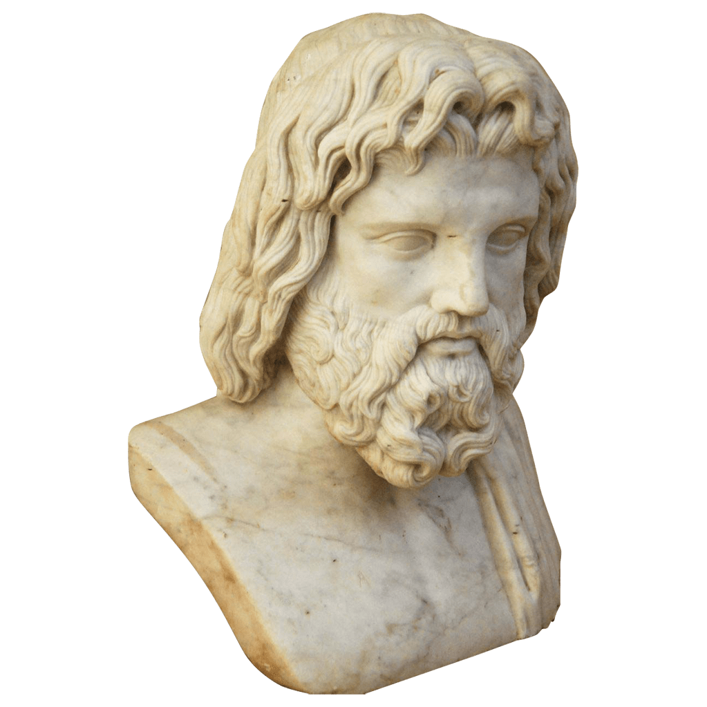 banner library library Zeus clipart zeus statue. Bust transparent png stickpng