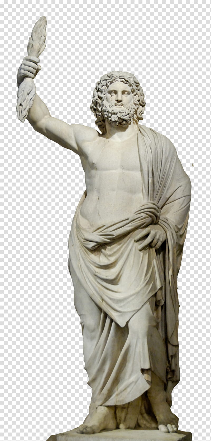 royalty free download Gray man transparent background. Zeus clipart zeus statue