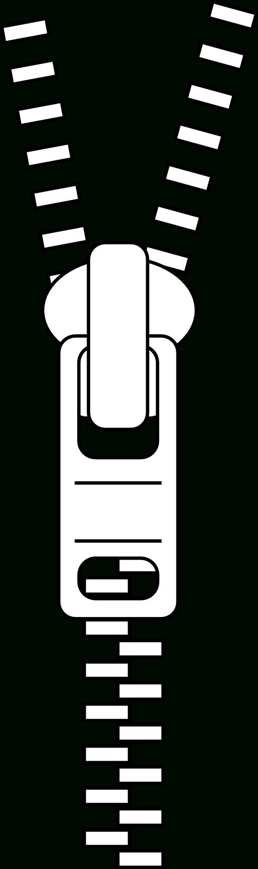 clip free Zipper Clipart Black And White