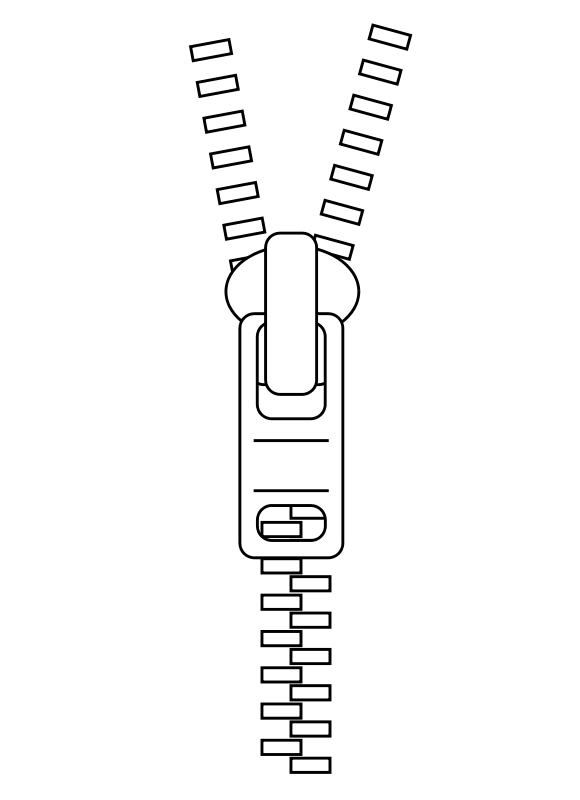 vector royalty free stock Zipper Clipart Black And White