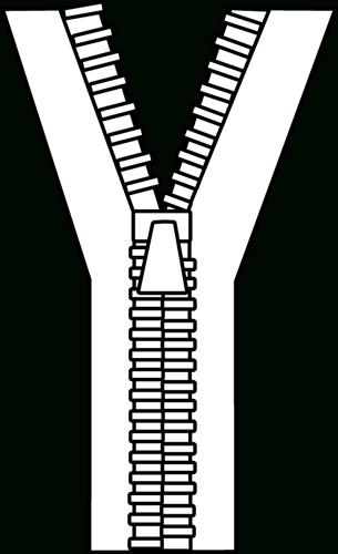 clip download Zipper Clipart Black And White