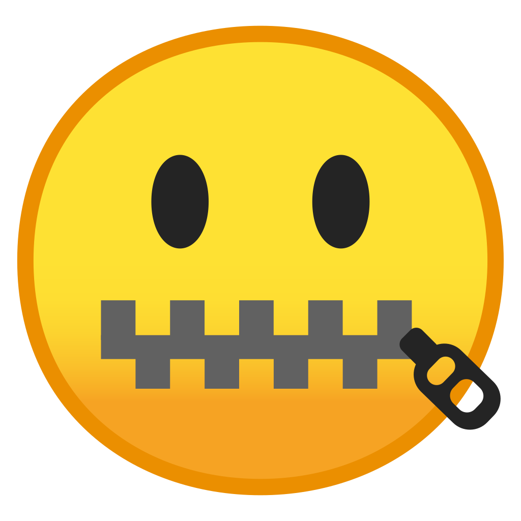 graphic royalty free download Zipper mouth face Icon