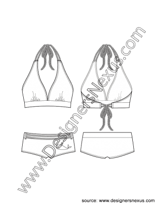 picture freeuse Drawing power sketch.  swimwear flat v