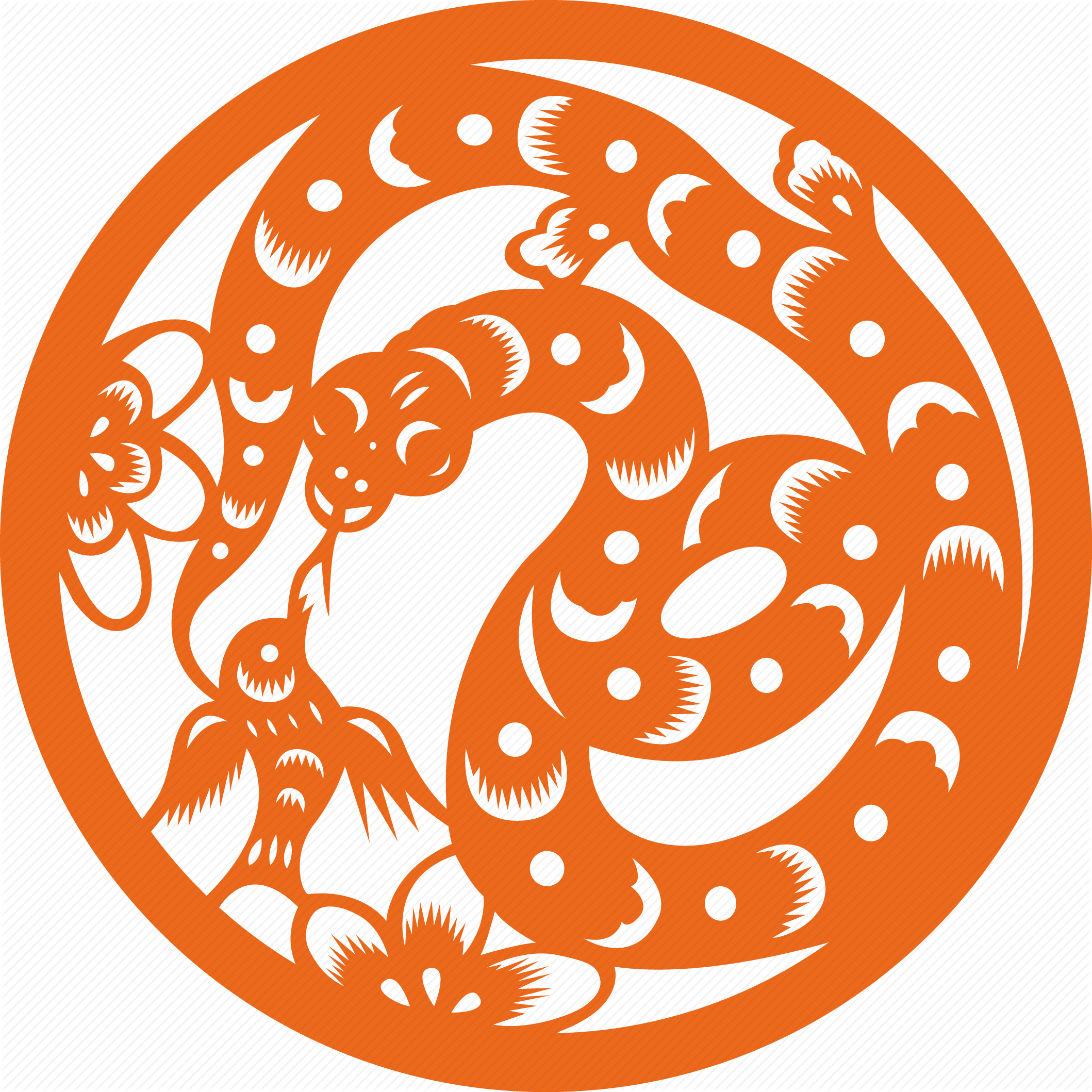 svg black and white Ching Zodiac