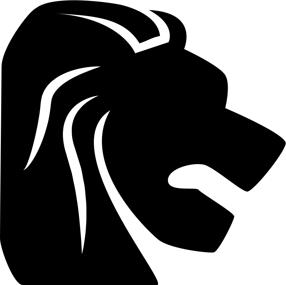 clip Leo Zodiac Symbol Of Lion Head From Side View Svg Png Icon Free