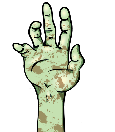jpg transparent stock Zombie arm clipart. Paycom acapocalypse