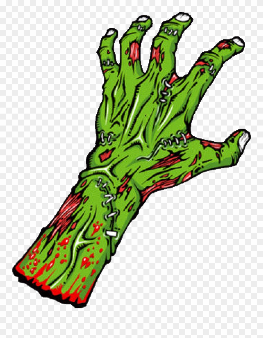 banner black and white library Zombie arm clipart. Black and white hand.