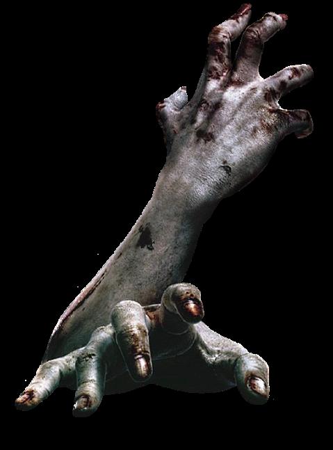 vector transparent Arms hands dead killer. Zombie arm clipart